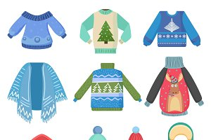 Christmas design winter clothes