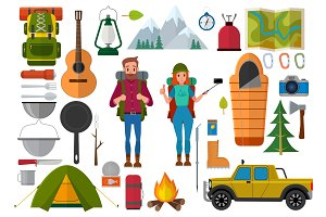Camping and hiking collection