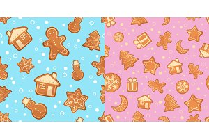 Christmas gingerbread pattern