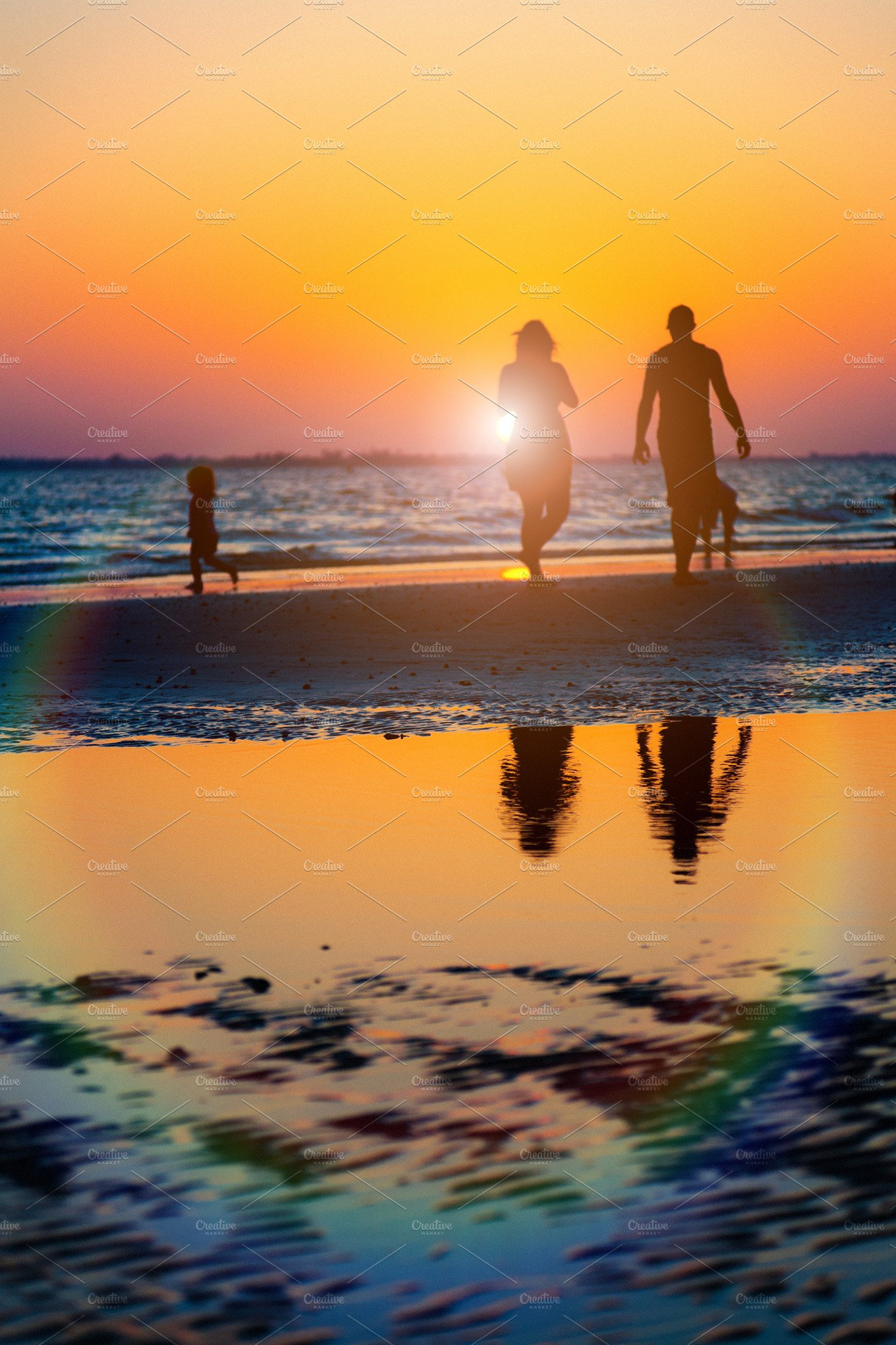 People on the beach at sunset ~ People Photos ~ Creative ...