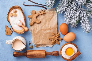 Ingredients for baking Christmas