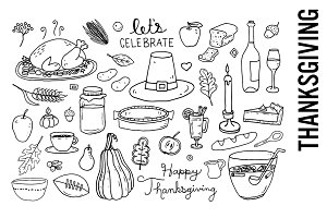Thanksgiving Doodle Clipart