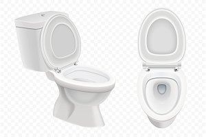 Realistic Toilet bowl mockup