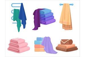 Vector bath towels set