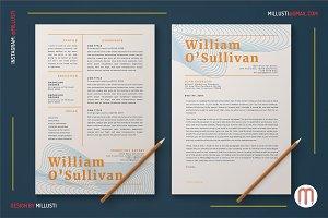 Elegant Line Art Resume Cover Letter