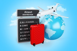 3d World, Airport board and travel s