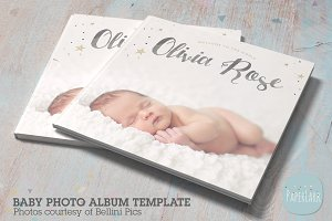 RN001 Newborn Album Template