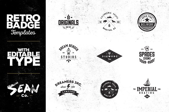 Vintage Badge/Logo Templates Vol. 1 - Logos