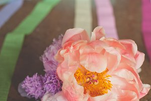 Colorful Party Streamers & Flowers
