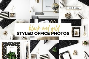 Office Photos-Black and Gold Bundle