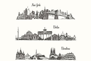 Cities (New york, Berlin, Barcelona)