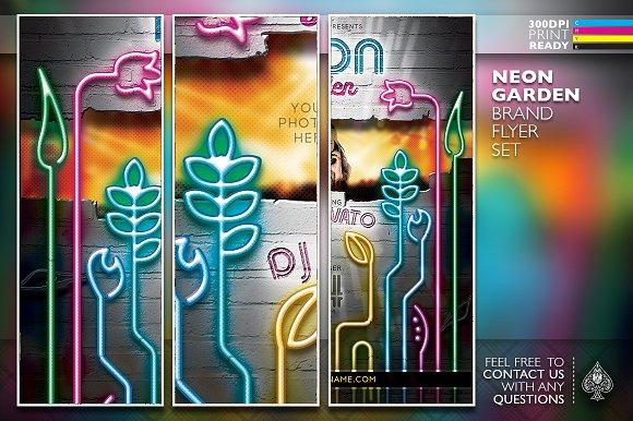Neon Garden Flyer Template Set