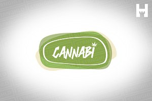 Cannabis Vector Logo Template