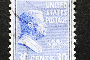 Postage stamp of Theodore Roosevelt