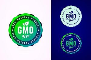 Gmo free vector badge.