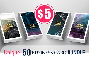 Unique 50 Business Card Bundle