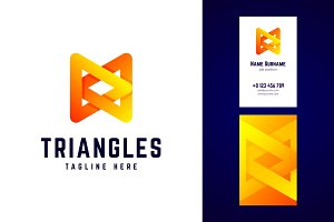 Triangles logo and business card