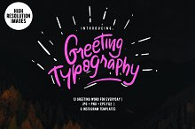 Greeting Typography 30% OFF
