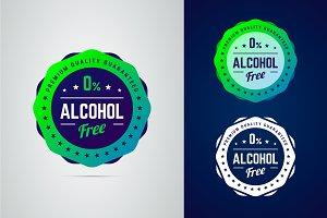 Alcohol free badge.