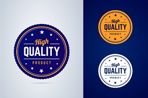 High quality product badge.