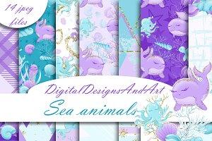 Sea animals patterns