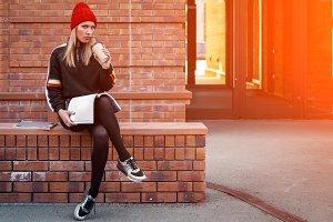 Fashion lifestyle portrait