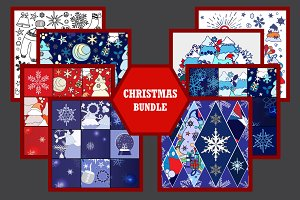 Christmas patchwork patterns