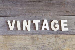 Vintage word