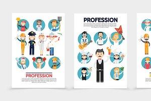 Flat professions brochures
