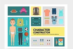 Sport man character infographics