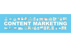 Content marketing concepts banner