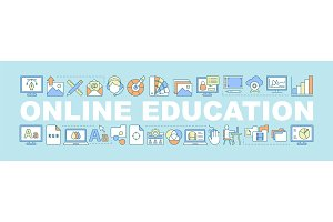 Online education concepts banner