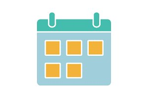 Calendar glyph color icon