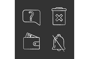 UI/UX chalk icons set