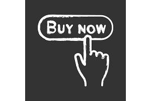 Buy now button chalk icon