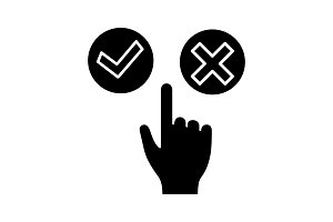 Accept and decline buttons icon