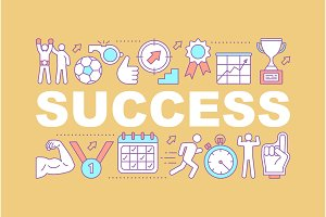 Sport success word concepts banner