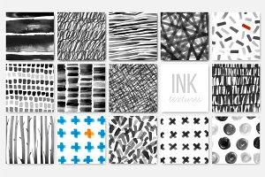 Abstract minimalist ink textures