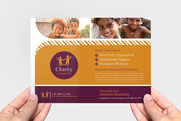 Charity Flyer Template Flyer Templates Creative Market