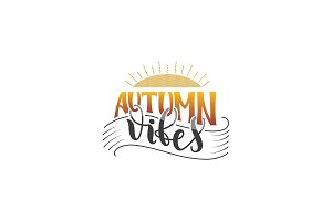 Autumn Vibes hand lettering poster