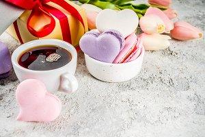 Valentine day's macaron cookies