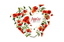 №15 Poppies red with splashes