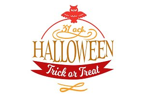 Happy Halloween lettering logo sign