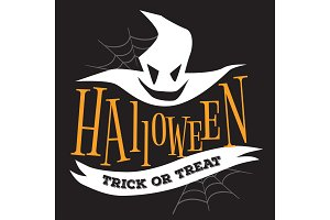 Halloween Trick or Treat logo sign