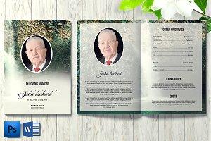 Funeral Program Template V24