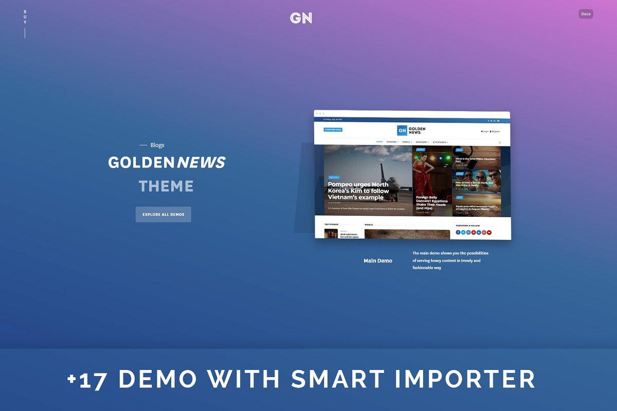 GoldenNews - Creative Magazine/News