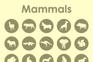 Mammals simple icons