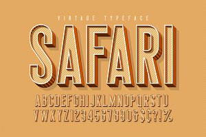 Condensed 3d display font design