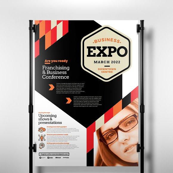 business event poster template flyer templates creative market