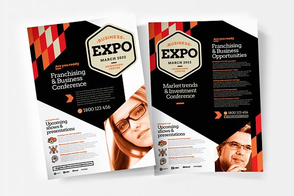 business event flyer poster flyer templates creative market